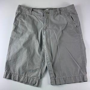 Ann Taylor LOFT Sz 2 Shorts Boyfriend Bermuda Gray